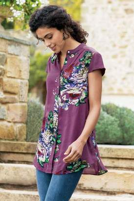 Soft Surroundings Bouquet of Roses Tunic