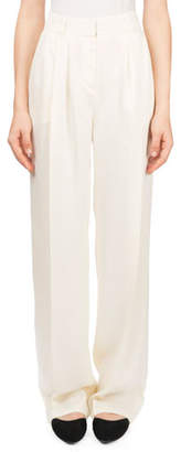 Magda Butrym Caguas High-Waist Draped Trousers