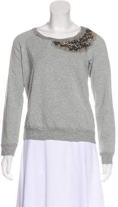 Ella Moss Embellished Long Sleeve Top