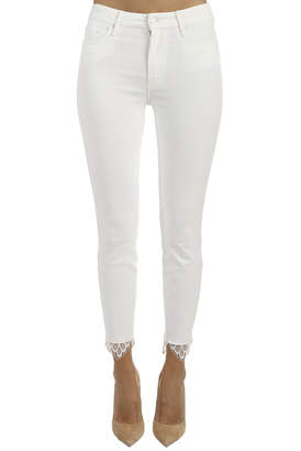 Mother High Waisted Looker Dagger Ankle Fray Jean