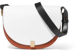 Victoria Beckham Half Moon Box Color-block Leather Shoulder Bag - White