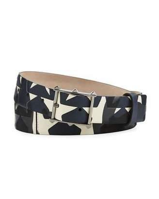 Valentino Garavani Camustars Rockstud Leather & Canvas Belt $545 thestylecure.com