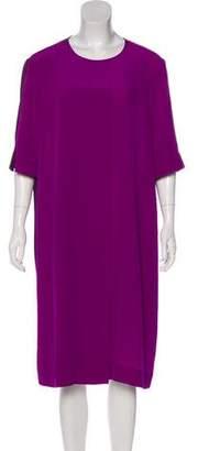 Stella McCartney Short Sleeve Silk Midi Dress