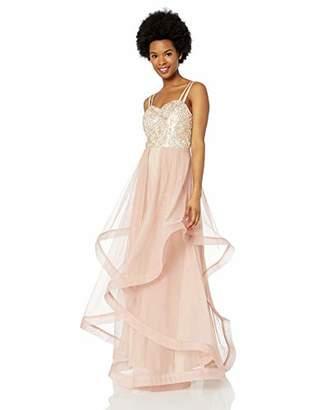 Speechless Junior's Sequin Bodice Full-Length Formal Prom Dress