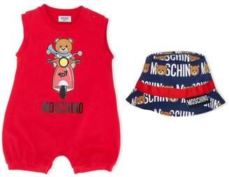 b53665472 Moschino Kids Toy babygrow and hat set