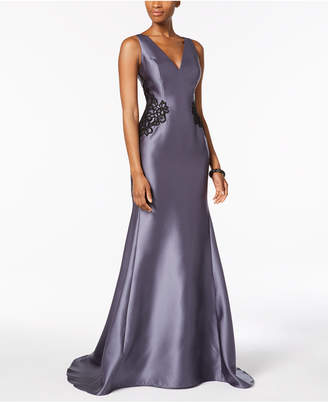 Adrianna Papell Lace-Trim Mermaid Gown