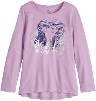 """Disneyjumping Beans Disney's Frozen Elsa & Anna Toddler Girl """"Sisters Forever"""" Graphic Tee by Jumping Beans"""