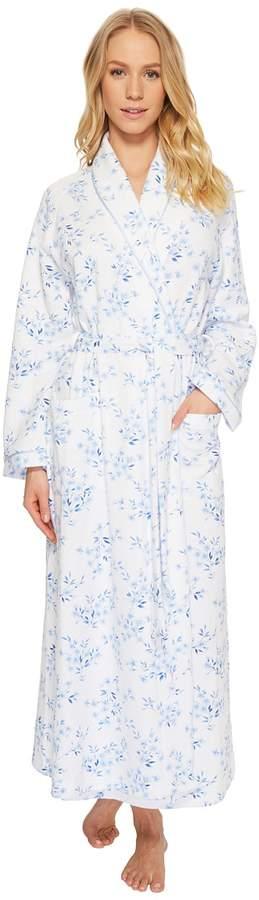 Carole Hochman Double Diamond Quilt Long Robe Women's Pajama