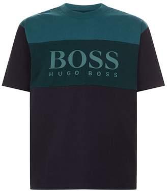 BOSS ORANGE Colour Block Logo T-Shirt