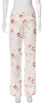 Marni Mid-Rise Floral Pants