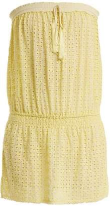 Melissa Odabash Adela strapless broderie-anglaise dress