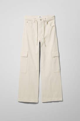 Weekday Rink Tinted Ecru Jeans - Beige
