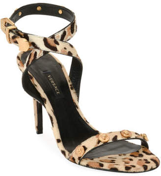 Versace Medusa Coin Fur Sandal