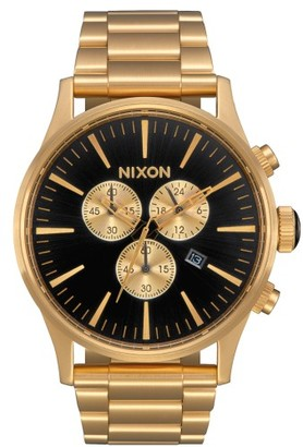 Nixon 'The Sentry' Chronograph Bracelet Watch, 42Mm $350 thestylecure.com