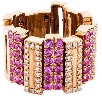 Garavelli 18K Pink Sapphire & Diamond Flexible Ring