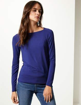 Marks and Spencer Square Neck Long Sleeve Tunic
