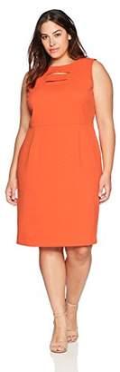 Kasper Women's Size Plus Knit Pique Dress