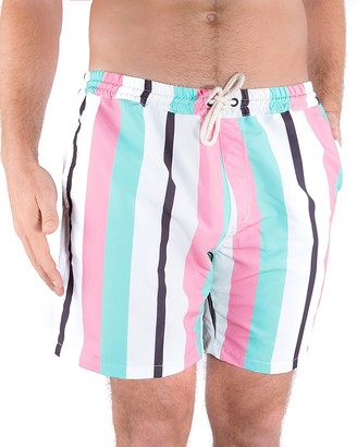 DUVIN Beach Dweller Stripe Swim Trunks $68 thestylecure.com