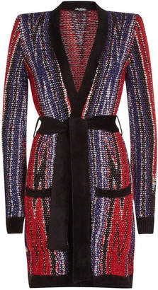 Balmain Cardigan Ceinture with Mohair and Wool