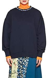 Acne Studios Women's Yana Cotton Sweatshirt - Midnight Blue