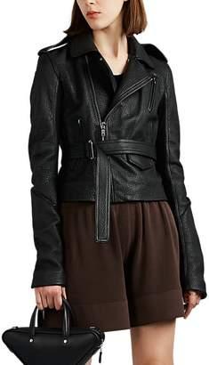 Rick Owens Women's Leather Belted Moto Jacket