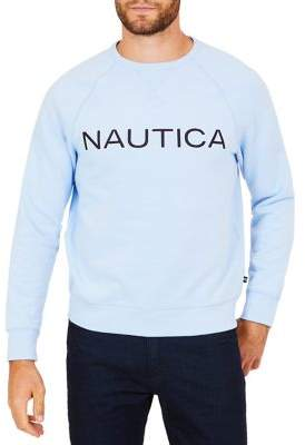 Nautica Graphic Fleece Crewneck Long-Sleeve Tee