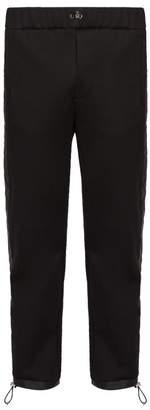Prada Side Stripe Toggle Waist Track Pants - Mens - Black