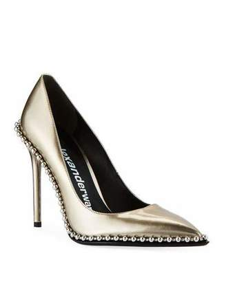 Alexander Wang Rie Studded Liquid Patent Leather Pumps