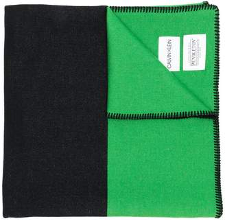 Calvin Klein colour blocked scarf