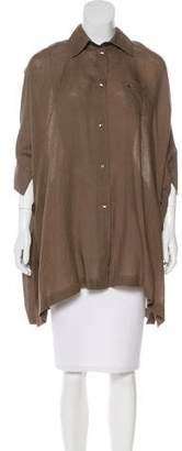 Agnona Linen Button-Up Top w/ Tags