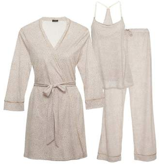 Cosabella Bella Maternity Printed 3-Piece Pajama Set