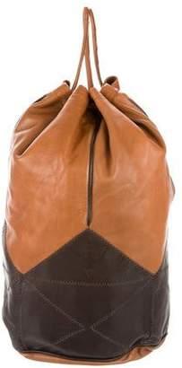 Fendi Two-Tone Leather Backpack