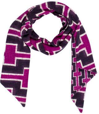 Diane von Furstenberg Abstract Printed Wool Scarf $65 thestylecure.com