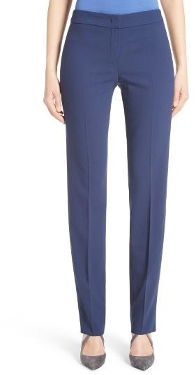 Women's Armani Collezioni Slim Textured Stretch Wool Pants