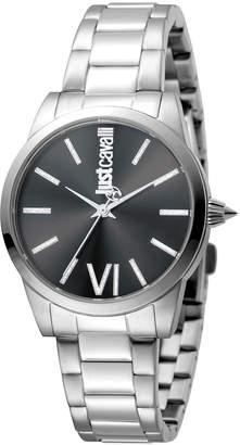 Just Cavalli 32mm Relaxed Velvet Bracelet Watch, Black