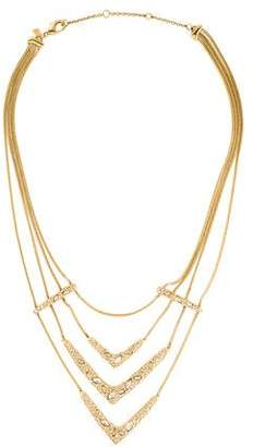 Alexis Bittar Crystal Chevron Collar Necklace