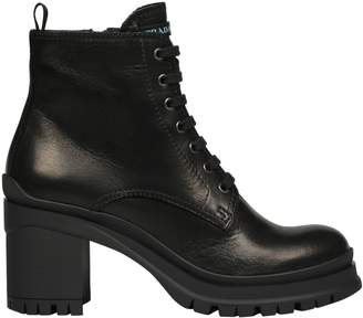 Prada Block Heel Lace-up Boots