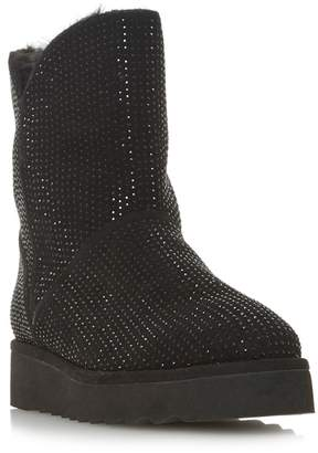 Dune - Black Suede 'Pina' Ankle Boots