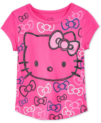Hello Kitty Glitter Graphic-Print T-Shirt, Toddler & Little Girls (2T-6X) $9.98 thestylecure.com