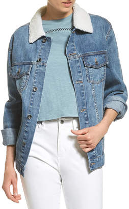 Jag Carly Denim Shearling Jacket