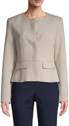 Calvin Klein Collection Collarless Peplum Jacket
