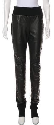 Diane von Furstenberg Leggy Leather High-Rise Skinny Pants