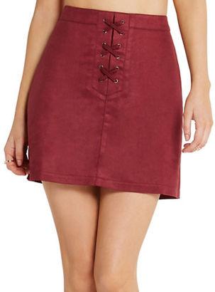 Bcbgeneration Faux-Suede A-Line Skirt $78 thestylecure.com