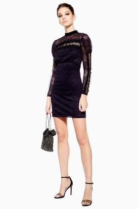 Topshop Scallop Lace Trim Dress