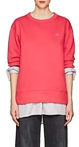 Acne Studios Women's Fairview Emoji Cotton Sweatshirt-Neon Pink