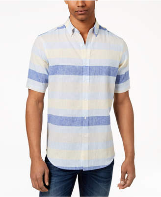 Club Room Men's Wide Striped Shirt