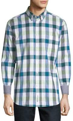Ben Sherman Buffalo Check Long-Sleeve Cotton Button-Down Shirt