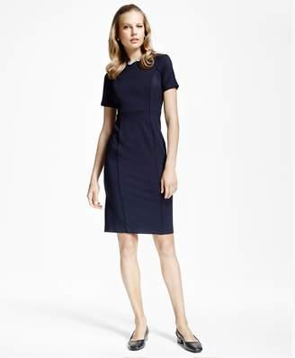 Brooks Brothers Raglan Short-Sleeve Ponte-Knit Dress