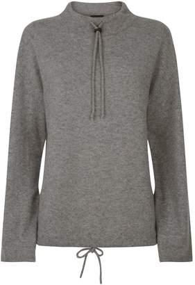 Theory Drawstring Mock Neck Sweater