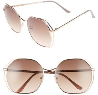 Women's A.j. Morgan Centric 58Mm Gradient Geometric Sunglasses - Gold $24 thestylecure.com